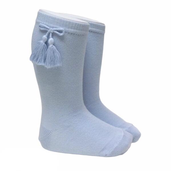 Meia Pata Tassel Socks, Blue