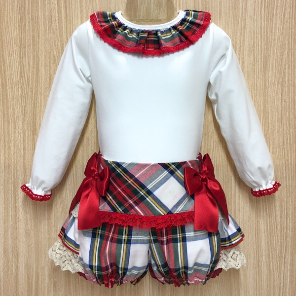 Bogoleta Red Tartan Short Set