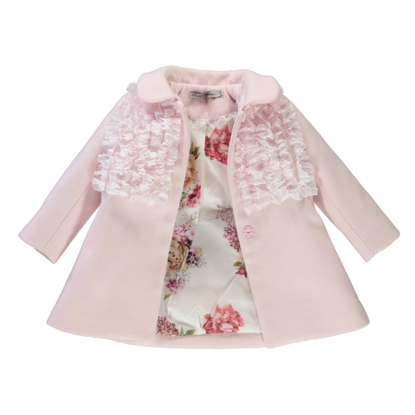 Piccola Speranza Pink Organza Ruffle Coat