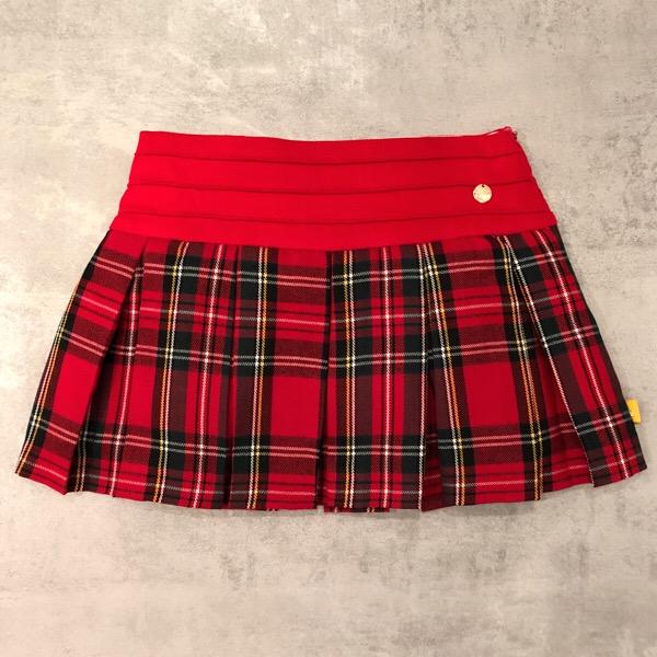 Chua Red Tartan Skirt