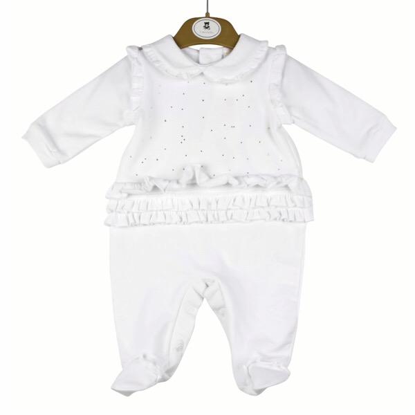 Mintini Baby White Crystal Babygrow