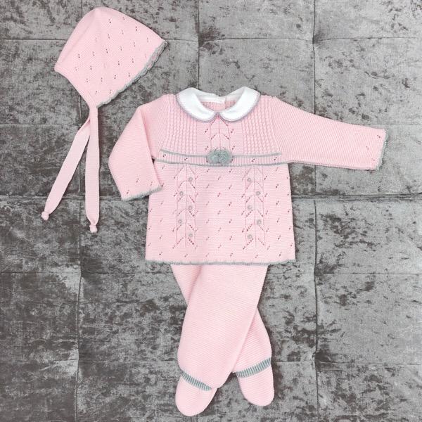 Babylis Pink & Grey Knitted Set