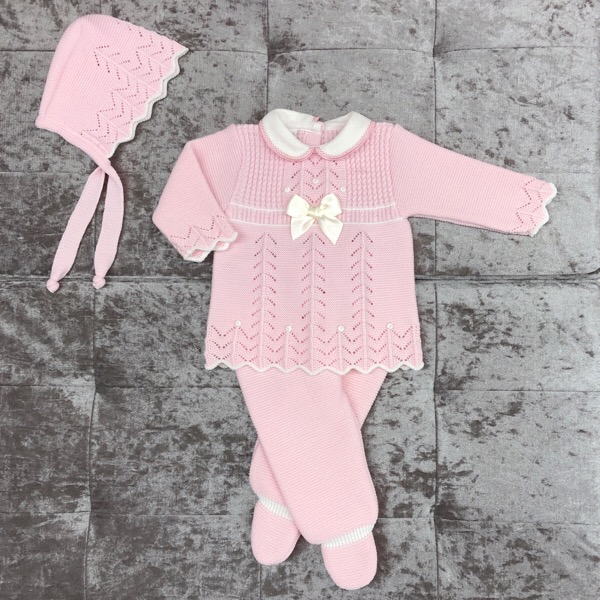 Babylis Pink & Cream Knitted Set