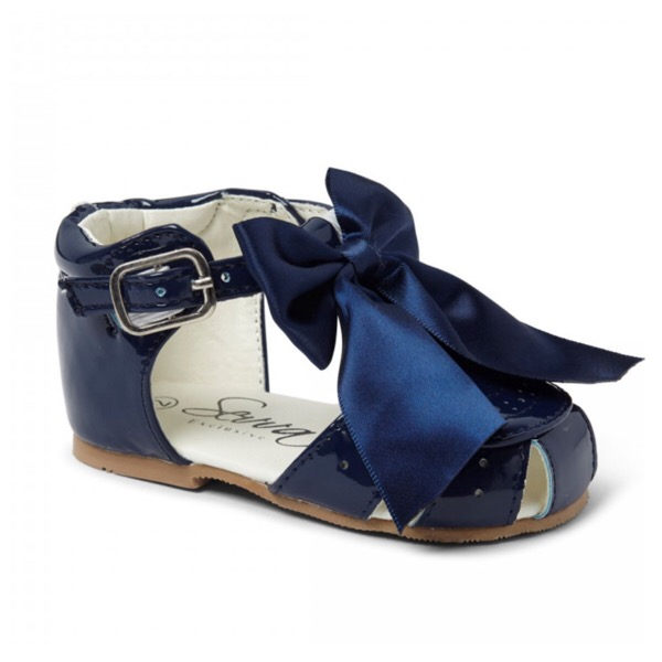 Sevva Bow Sandals, Navy