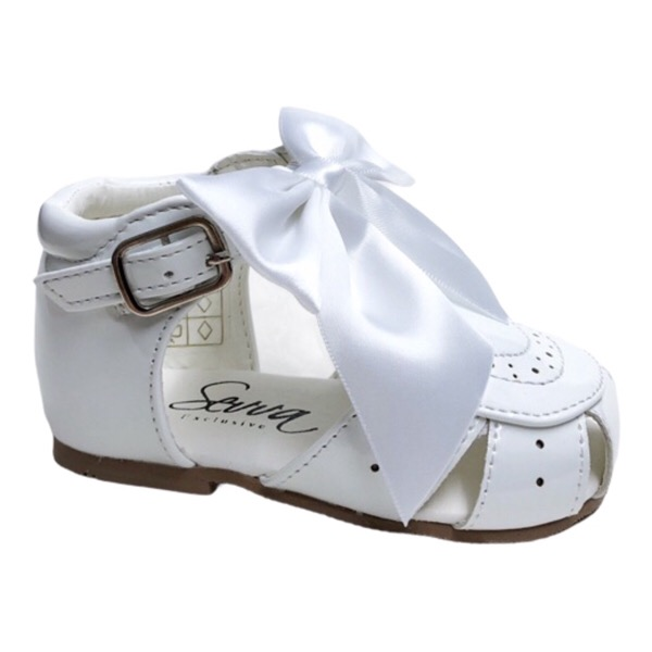 Sevva Bow Sandals, White