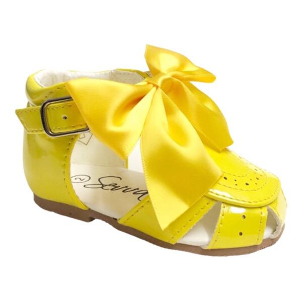 Sevva Bow Sandals, Yellow