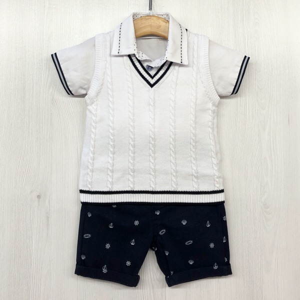 Caramelo Nautical Short Set