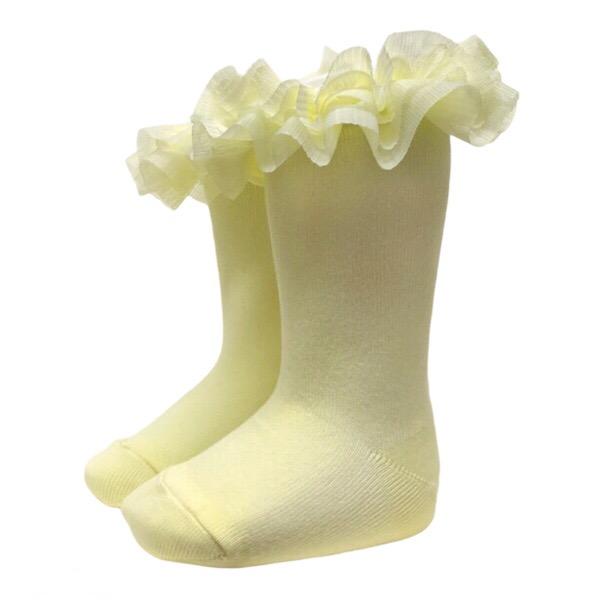 Meia Pata Tulle Tutu Socks, Lemon