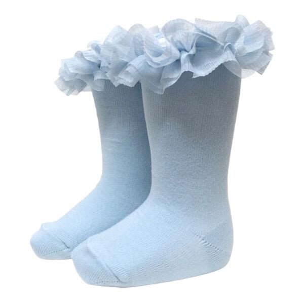 Meia Pata Tulle Tutu Socks, Blue