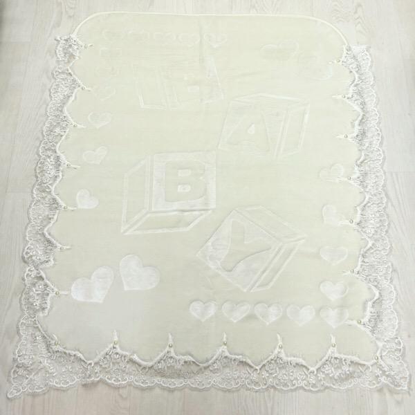 Lace Blanket Set, Cream