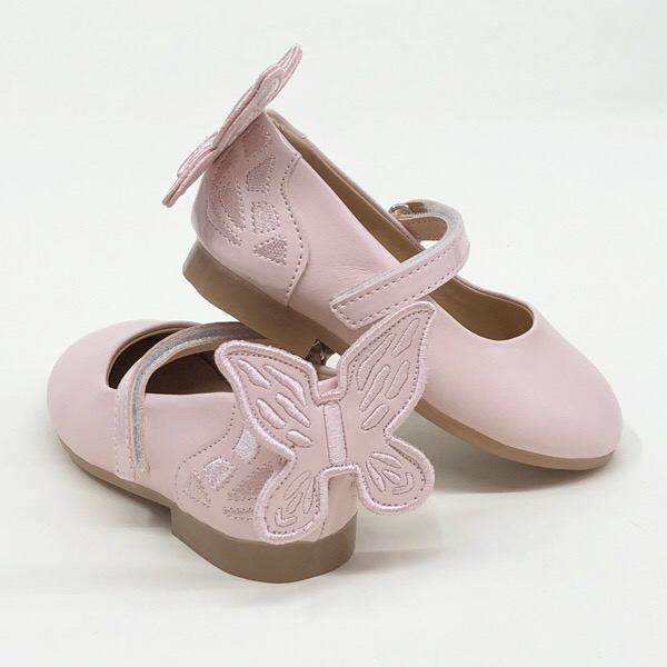 Caramelo Kids Butterfly Pumps, Nude