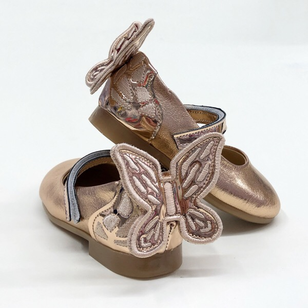 Caramelo Butterfly Pumps, Rose Gold
