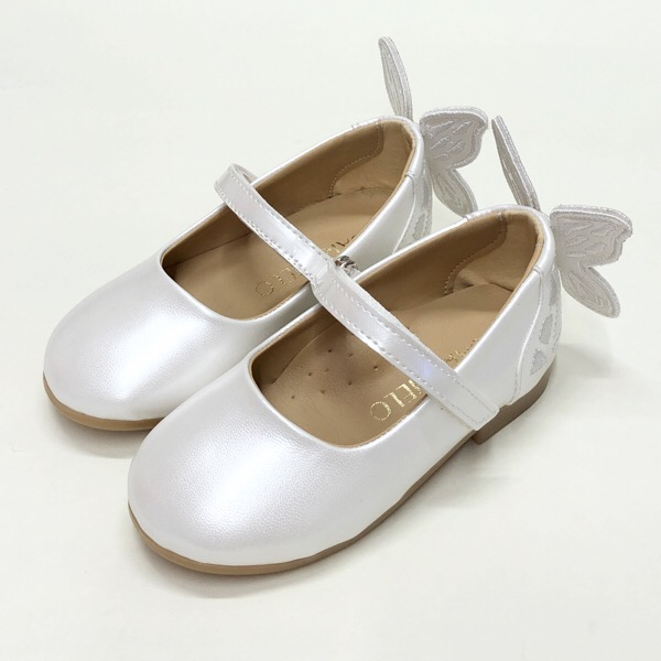 Caramelo Kids Butterfly Pumps, Ivory