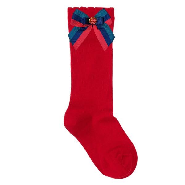 Piccola Speranza Red Bow Socks