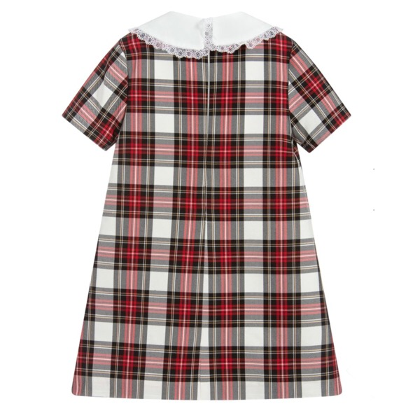 Piccola Speranza Tartan Shift Dress