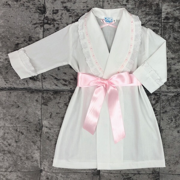 Salero White & Pink Ribbon Nightcoat