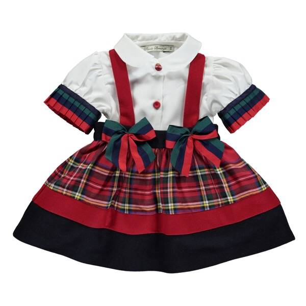 Piccola Speranza Tartan Pinafore Set