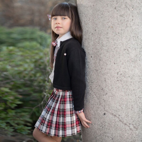 Piccola Speranza Tartan Skirt Set