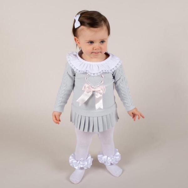 Caramelo Kids Grey Knit Dress