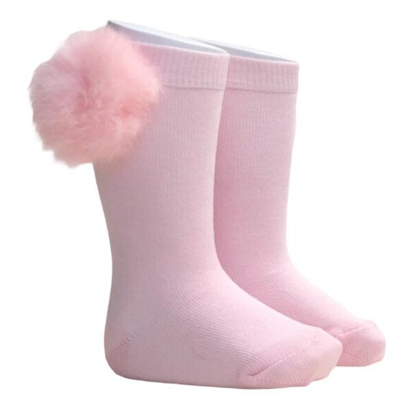 Meia Pata Fur Pom Pom Socks, Pink