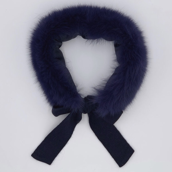 Rahigo Navy Faux Fur Collar