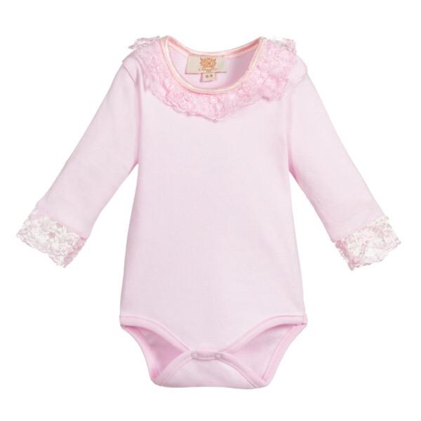 Caramelo Kids Long Sleeve Lace Bodysuit