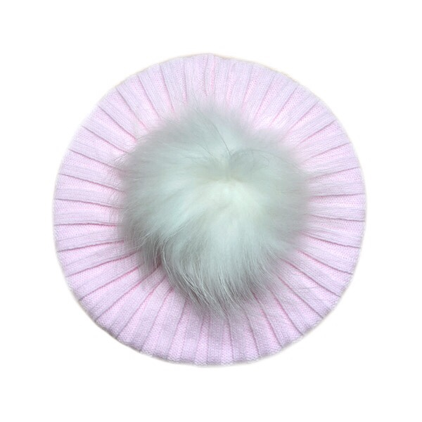 Rahigo Pink & Cream Ribbed Beret