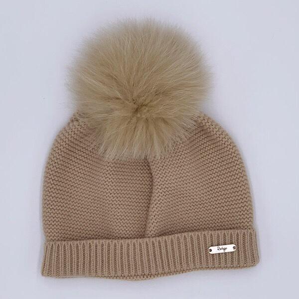Rahigo Camel Pom Pom Hat