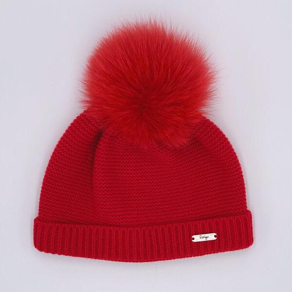 Rahigo Red Pom Pom Hat