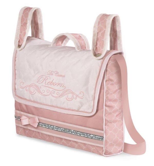 Top Collection White & Pink Reborn Pram