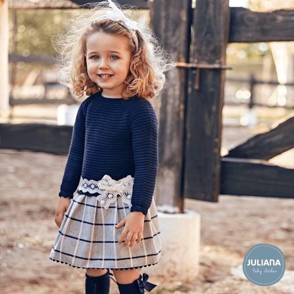 Juliana Navy Dropwaist Dress