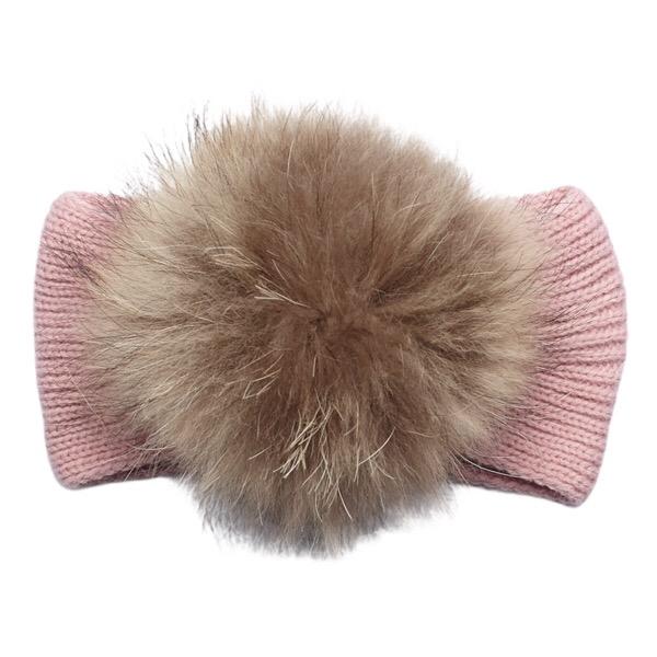 Juliana Dusky Pink Fur Headband