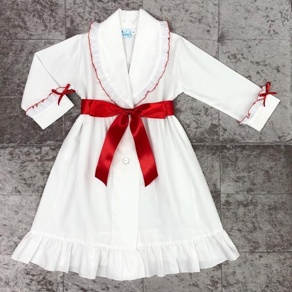 Salero Red Pleat Nightcoat