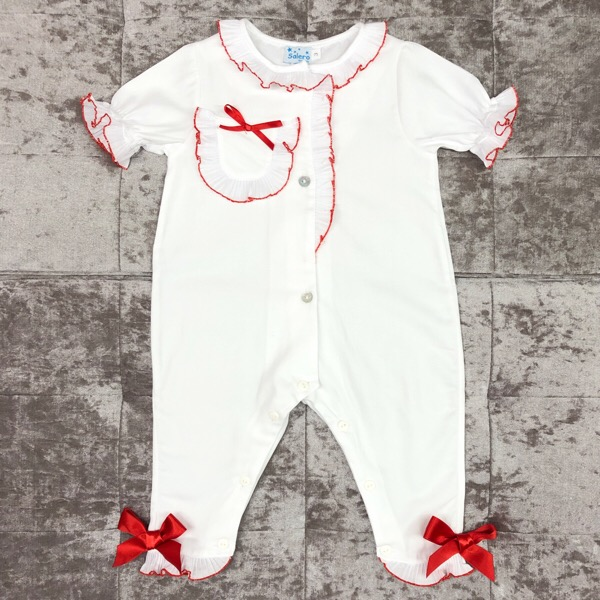 Salero Red Pleat Onesie