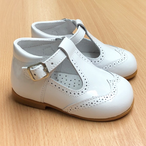 CocoBoxi T-Bar Shoes, White