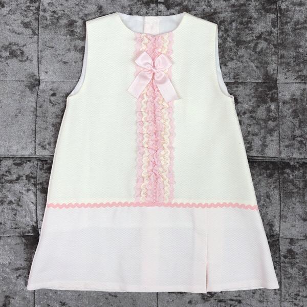 Eva Pink A-Line Girls Dress