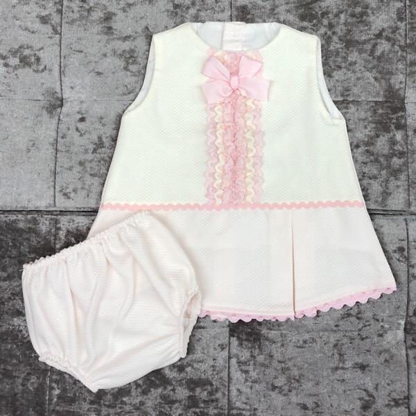 Eva Pink A-Line Baby Dress Set