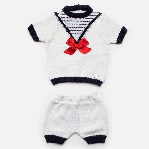 Juliana Nautical Knit Short Set
