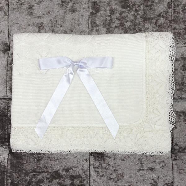 Juliana Crochet Lace Shawl, White