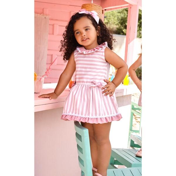 Juliana Dusky Pink Stripe Dress