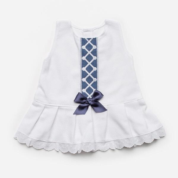 Juliana White & Azul Dropwaist Dress