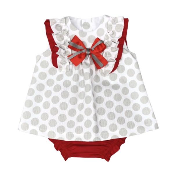 Cuka Polka Dot Dress & Pants Set