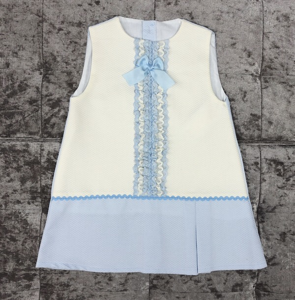 Eva Blue A-Line Girls Dress