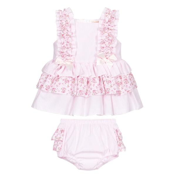 Caramelo Pink Floral Dress Set