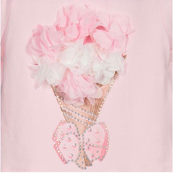 Caramelo Bouquet Skirt Set, Pink