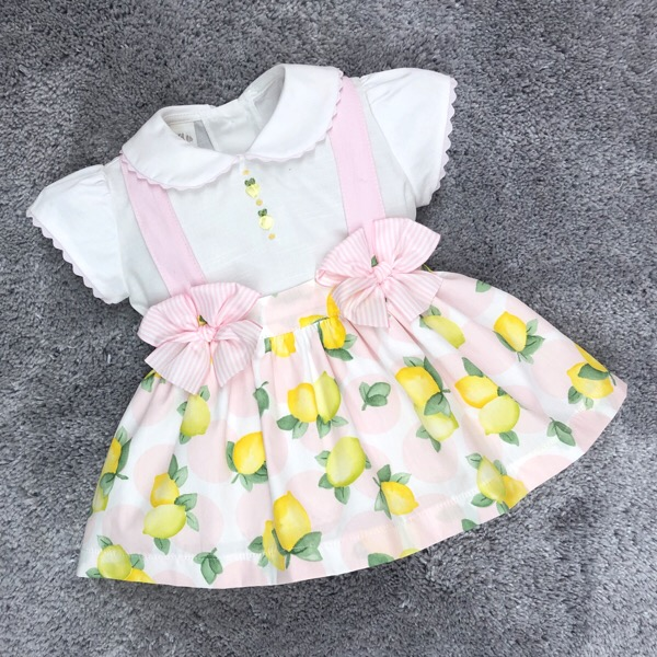 Pretty Originals Lemon Print Pinafore