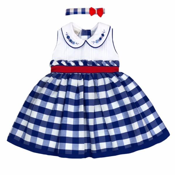 Pretty Originals Blue Check Dress