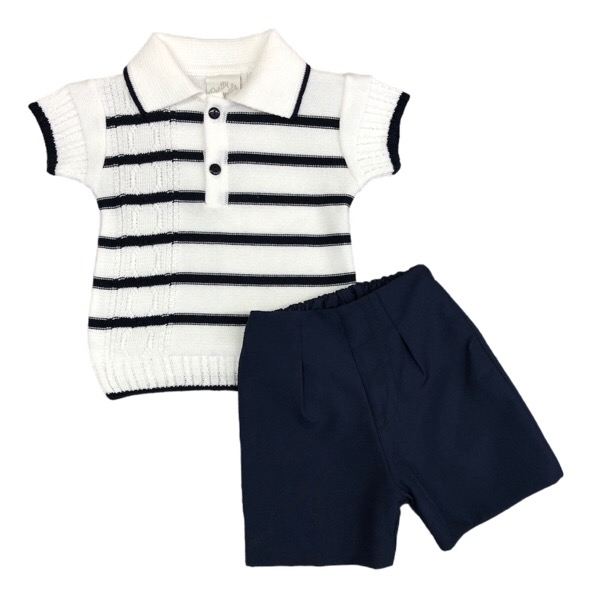 Pretty Originals Navy & White Short Set