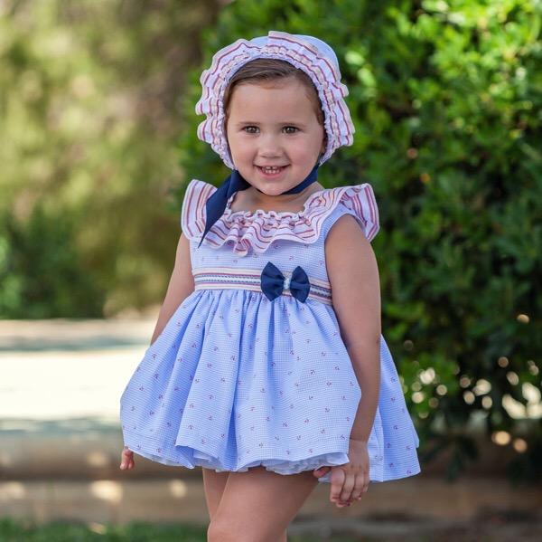 Abuela Tata Nautical Baby Dress Set