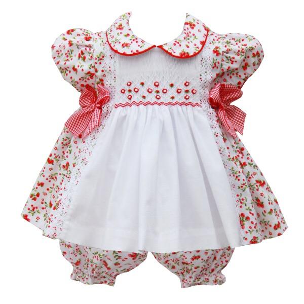 Pretty Originals Strawberry Smocked Dress